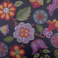 dancing peacock painting on fabric